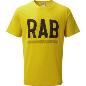Rab Stance Paint T-shirt Homme, sulphur
